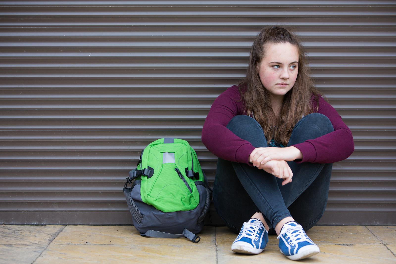 bigstock-Homeless-Teenage-Girl-On-Stree-108022685